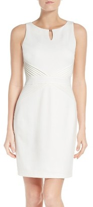 Women's Ellen Tracy Ponte Sheath Dress $108 thestylecure.com