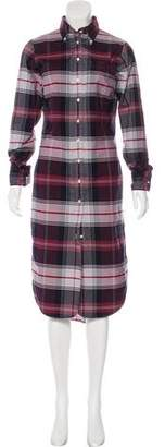 Black Fleece Long Sleeve Midi Dress