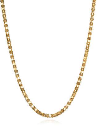 FINE JEWELRY 14K Yellow Gold Diamond-Cut Popcorn Chain Necklace
