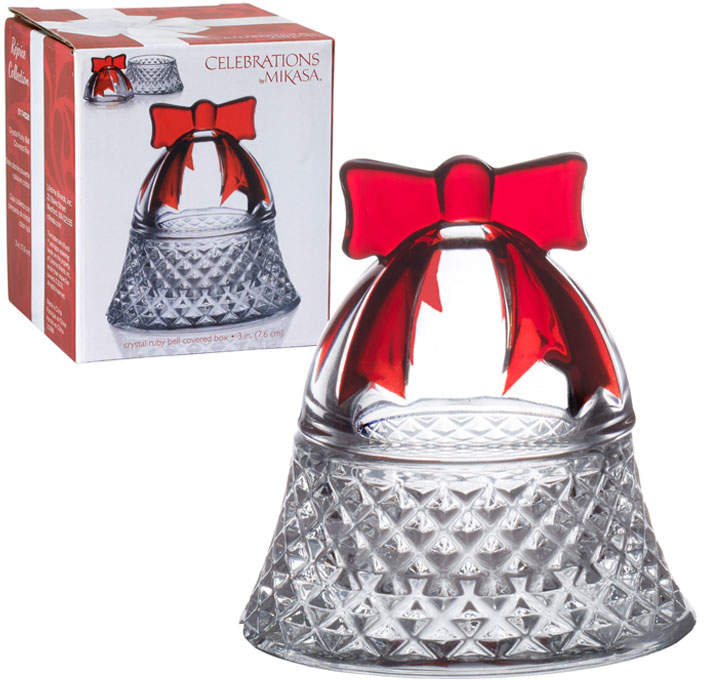 Rejoice Crystal Ruby Bell Covered Box