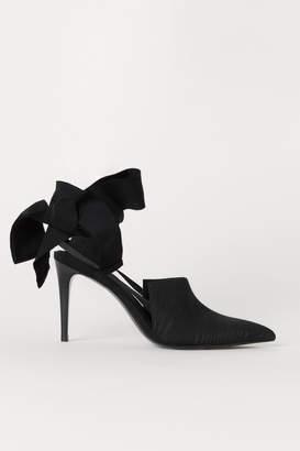 H&M Slingbacks with Ties - Black