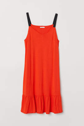 H&M V-neck Dress - Orange