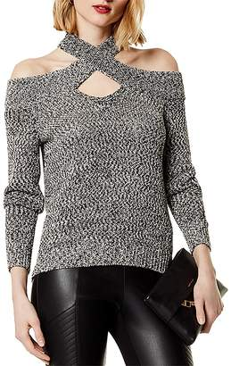Karen Millen Cold-Shoulder High/Low Sweater
