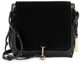 Vince Camuto Leather & Suede Flap Crossbody Bag