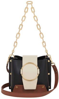 Yuzefi Limited Delila Colorblock Leather Ring Bucket Bag