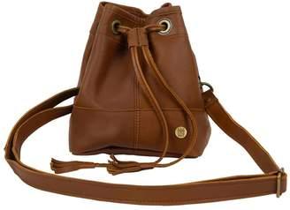 Mahi Leather Mini Bucket Drawstring Bag In Vintage Brown Leather
