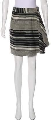 Marissa Webb Patterned Mini Skirt
