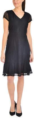 Asstd National Brand NY Collection Flounce Hem Lace Dress - Petities
