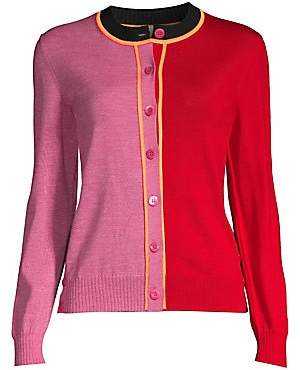 Escada Sport Women's Wool Colorblock Cardigan