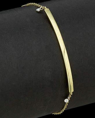 Meira T 14K Two-Tone 0.02 Ct. Tw. Diamond Bar Bracelet