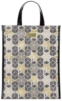 Harrods Medium Metallic Cube Shopper Bag