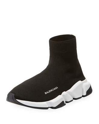 Balenciaga Men's Speed Signature Mesh Sock Sneakers