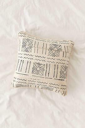 Cozy Nomad Mudcloth Faux Fur Throw Pillow