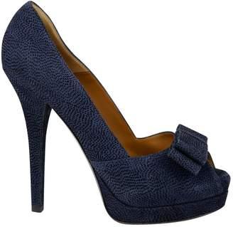 Fendi Blue Cloth Heels