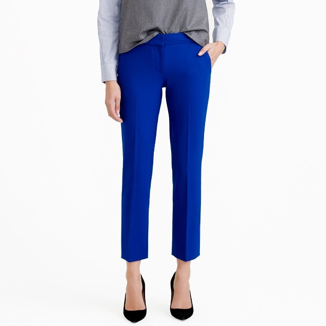 J.Crew Campbell capri pant in bi-stretch wool