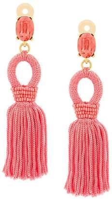 Oscar de la Renta tassel drop earrings
