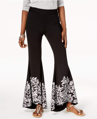 INC International Concepts I.n.c. Printed Flare-Leg Pants, Created for Macy's