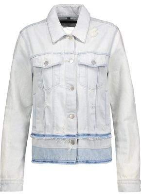 J Brand Fringed Distressed Denim Jacket