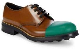 Prada Colorblocked Almond Toe Oxfords