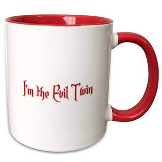 Evil Twin 3dRose Im the Two Tone Red Mug, 11-ounce