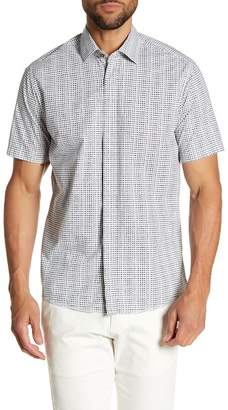 Borgo 28 Mini Square Printed Modern Fit Shirt