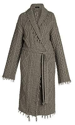 Alanui Women's Fisherman Cashmere & Wool Knit Coat
