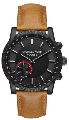 Michael Kors Scout Hybrid Leather Strap Smart Watch, 43mm