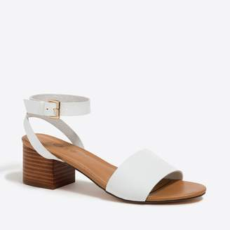 J.Crew Factory Pebbled block-heel sandals