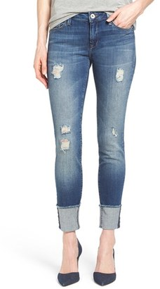 Women's Mavi Jeans 'Erica' Ripped Cuffed Ankle Jeans $118 thestylecure.com