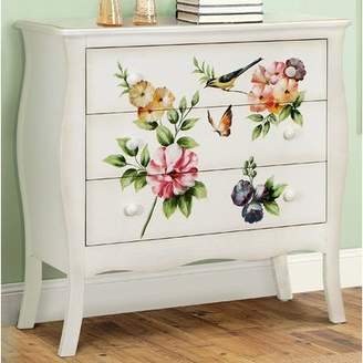 August Grove Sanger Hand-Painted 3 Drawer Accent Chest