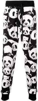 Dolce & Gabbana panda print track pants