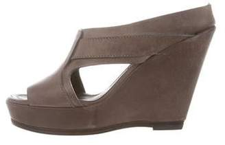 Rick Owens Cutout Leather Wedges w/ Tags