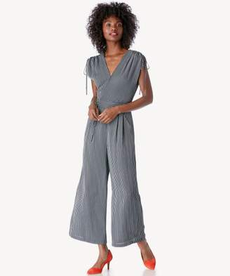 Sole Society Adjustable Shoulder Wide Leg Jumpsuit
