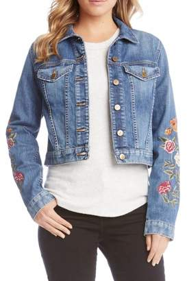 Karen Kane Embroidered Denim Jacket