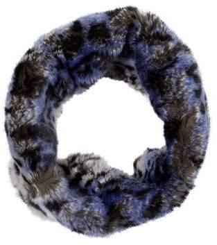 Glamour Puss Glamourpuss Leopard Print Fur Snood w/ Tags