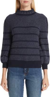 Co Metallic Stripe Sweater