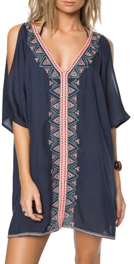 O'Neill Women's O'Neill Cosa Embroidered Cover-Up Dress