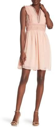 Crimson in Grace Swiss Dot Fit & Flare Dress