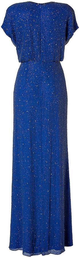 Jenny Packham Silk Sequined Gown in Montera