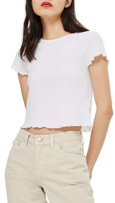 Topshop Waffle Short Sleeve T-Shirt