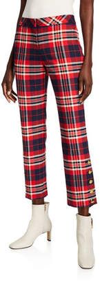 Trina Turk Mercury Plaid Pants