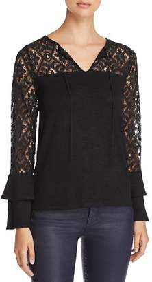 Design History Lace-Sleeve Top