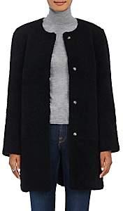 Barneys New York Women's Lamb Shearling Cocoon Coat-Black