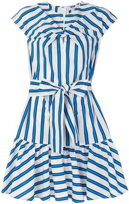 MSGM twist front striped dress