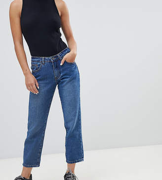 Missguided Petite Wrath Turn Up Straight Leg Jeans