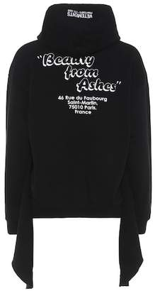 Vetements Printed cotton-blend hoodie
