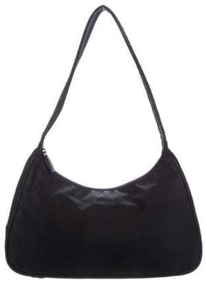 Prada Nylon Shoulder Bag Black Nylon Shoulder Bag
