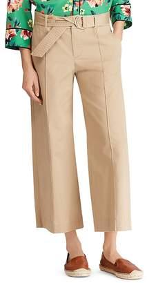 Lauren Ralph Lauren Wide-Leg Twill Ankle Pants