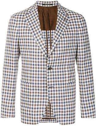 Tagliatore checked single-breasted blazer