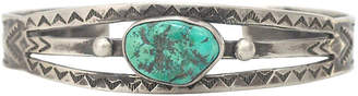 One Kings Lane Vintage Turquoise Sharp Tooth Cuff - Marteau Jewelry